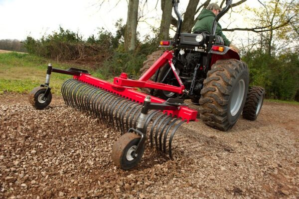 Taylor-Way Landscape Rake with Wheel Kit